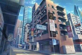 Wallpaper Anime, Original, Building, City, Original Anime