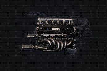 Wallpaper Black Vehicle Engine, Ferrari, Ferrari F1 Engine