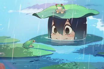 Wallpaper Boku No Hero Academia, Anime Girls, Tsuyu Asui