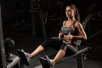 Wallpaper Brunette, Workout, Fitness, Gym
