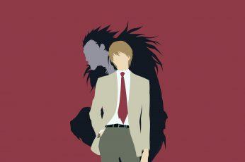 Wallpaper Death Note Illustration, Anime, Minimalism, Ryuk