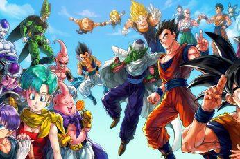Wallpaper Dragon Ball Characters Illustration, Dragon Ball