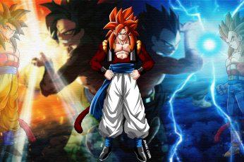 Wallpaper Dragon Ball, Dragon Ball Gt, Gogeta, Son Goku