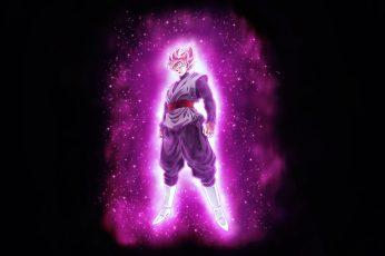 Wallpaper Dragon Ball Super, Super Saiyan Rosé, Black Goku