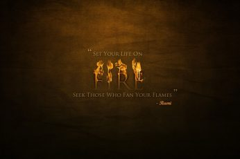 Wallpaper Fire, Fire Letters, Artistic, Typography, Quote