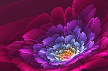 Wallpaper Flower, Neon, Art, Digital, Design, Pattern