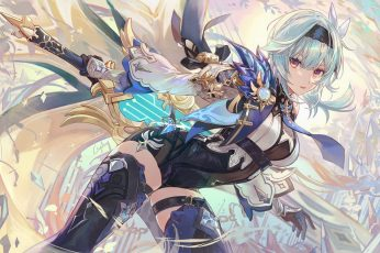 Wallpaper Genshin Impact, Eula Genshin Impact, Anime Girl