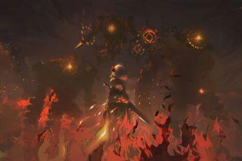 Wallpaper Genshin Impact, Genshin Impact Game, Noelle, Anime