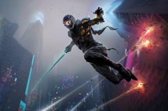 Wallpaper Ghostrunner, Video Games, Cyberpunk, Sci-Fi
