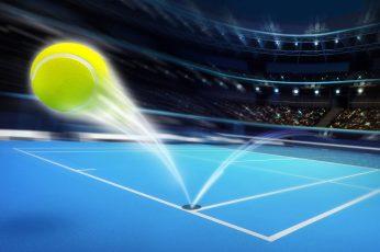 Wallpaper Green Tennis Ball, Field, Abstraction, Lights