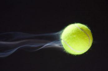 Wallpaper Green Tennis Ball, Macro, Speed, Trajectory