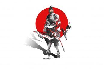 Wallpaper Hanzo, Genji, Genji Overwatch, Genji Shimada