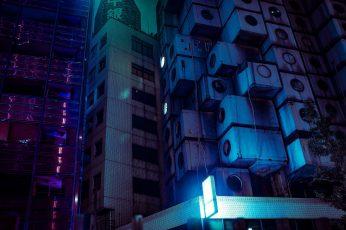 Wallpaper Japan, Tokyo, Night, Urban, Lights, Neon