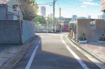 Wallpaper Kimi No Na Wa, Anime Streets, Scenic, City, Build