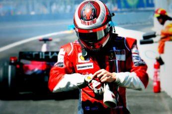 Wallpaper Man In F1 Car Suit And Helmet, Formula 1