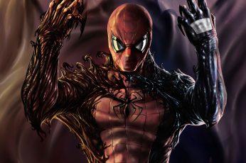 Wallpaper Marvel Spider Man Illustration, Venom, Carnage
