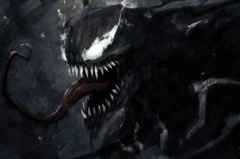 Wallpaper Marvel Venom Illustration, Artwork, Spider