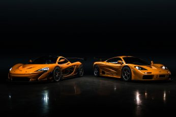 Wallpaper Mclaren, Mclaren P1 Lm, Mclaren F1 Lm, Orange Cars