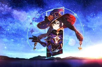Wallpaper MonaGenshin Impact, Game Characters