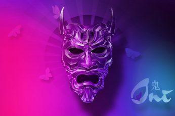 Wallpaper Oni Mask