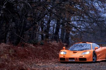Wallpaper Orange Supercar, Mclaren, Mclaren F1, Trees