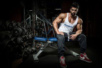 Wallpaper Pose, Muscle, Athlete, Simulators, Dumbbells