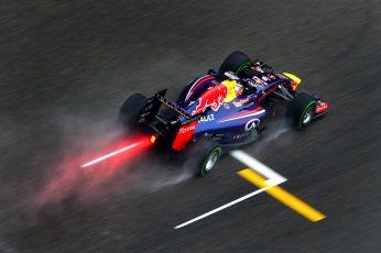 Wallpaper Red Bull F1 Race Car, Rain, Formula 1, Vettel