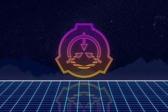 Wallpaper Scp, Scp Foundation, Grid, Logo, Minimalism, Neon