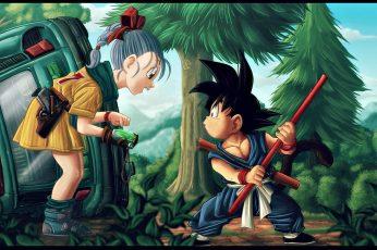 Wallpaper Son Goku And Bulma, Dragon Ball, Bulma Dragon Ball