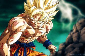 Wallpaper Son Goku From Dragon Ball Z, Super Saiyan