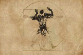 Wallpaper Spider Man Venom, Vitruvian Man, Art And Craft