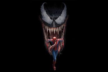 Wallpaper Spiderman, Venom, Artwork, 4k, Hd, Digital Art