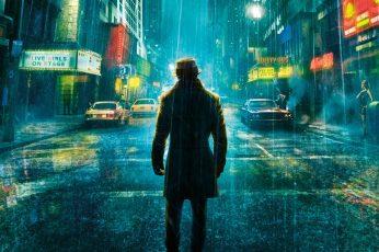 Wallpaper Standing Man Wearing Jacket Under The Rain
