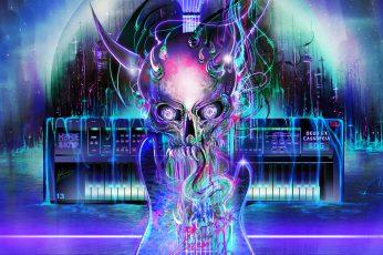 Wallpaper Ultraboss, Synthwave, Vaporwave, Neon, Neon Glow