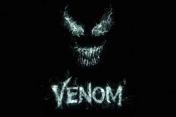 Venom Digital Wallpaper, Background, Eyes, Black