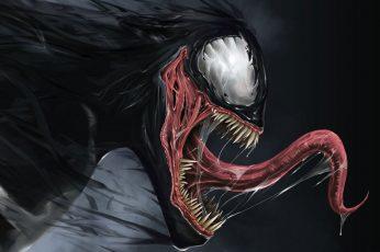 Wallpaper Venom Illustration, Artwork, Marvel Comics, Spider
