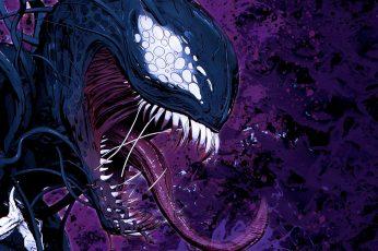 Wallpaper Venom, Marvel Comics, Villains, Illustration