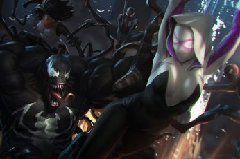 Wallpaper Venom Wallpaper, Fantasy Art, Spider Gwen, Spider