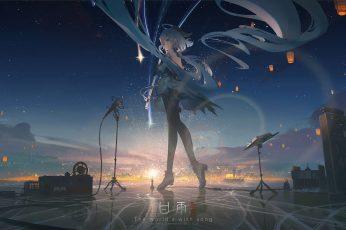 Wallpaper Video Game Art, Fan Art, Genshin Impact, Ganyu