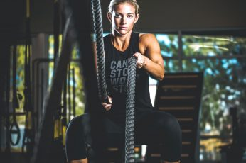 Wallpaper Woman Holding Rope On Gym, Exercise, Fit, Health
