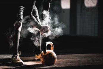 Wallpaper Working Out, Gyms, Smoke, Kettlebells, Motion