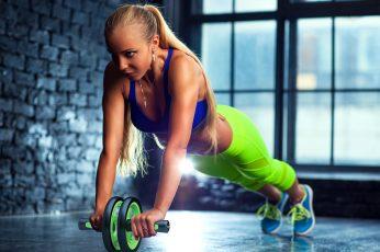 Wallpaper Workout Blonde, Fitness, Gym