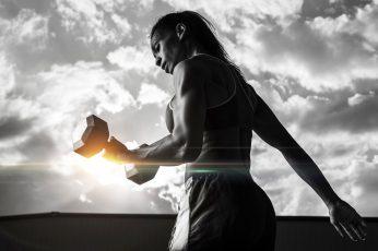 Wallpaper Workout, Motivation, Gym, Girl, Dumbbells