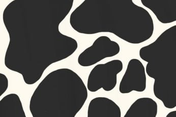 Wallpaper Aesthetic, Animal, Cow, Fire, Iphone, Moo, Print, White