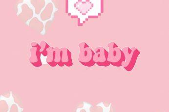 Wallpaper Aesthetic, Cow, Cowprint, Happy, Heart, Im Baby, Love, Pink