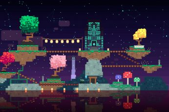 Wallpaper 8 Bit Game App, Pixel Art, Fez, Video Game
