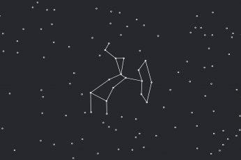 Wallpaper 8k, Sagittarius, Minimalism, Stars, Line Art