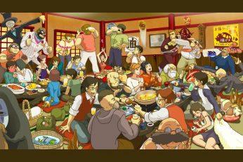 Wallpaper Animated Characters Inside Room Digital