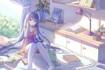 Wallpaper Anime, Anime Girls, Room, Interior, Legs