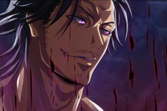 Wallpaper Anime, Black Clover, Black Hair, Man, Purple Eyes
